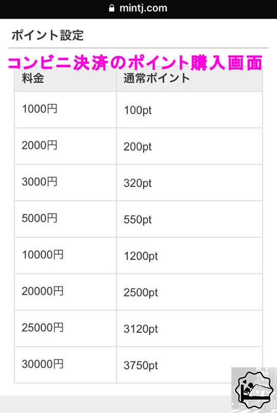 【ポイント購入の方法③】コンビニ入金