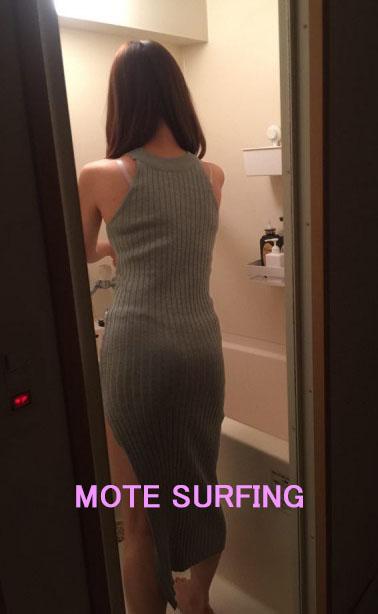 シャワールームにいるTSUBAKIさん